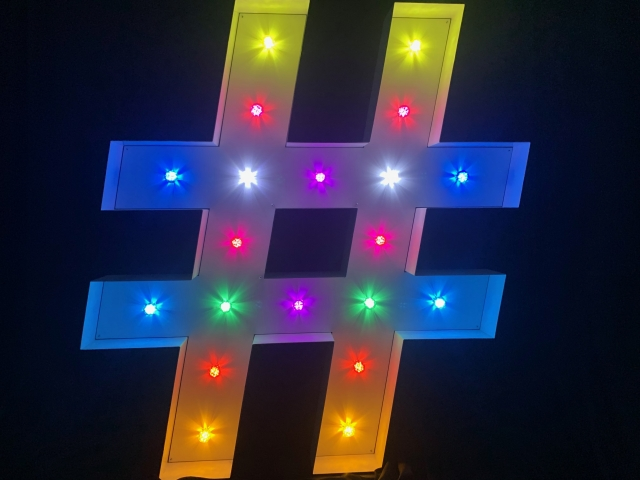 Coloured Bulb Light Up Letters
