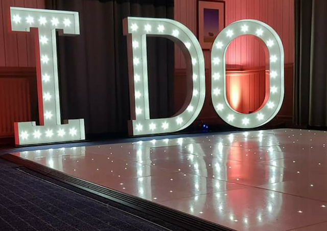 Light Up I DO Letters