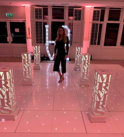 LED Light Up Wedding Plinth Hire