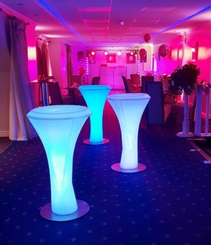 LED Poseur Tables