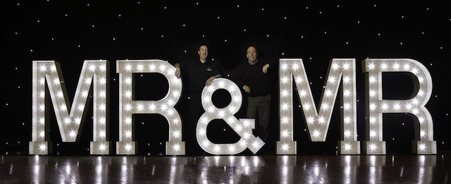 Light Up Mr & Mr Letters