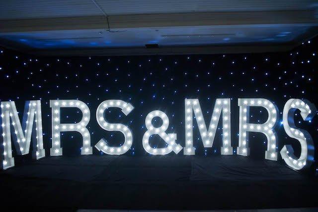 Light Up Mrs & Mrs Letters