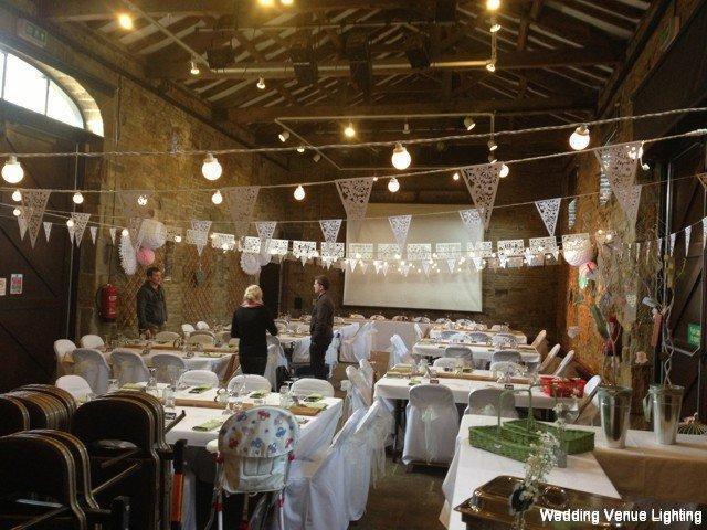 Oakwell Hall Festoon Lighting Wedding Venue Lighting