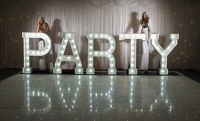 Light Up Party Letters