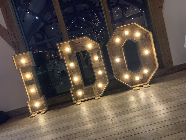 Rustic I DO Letters
