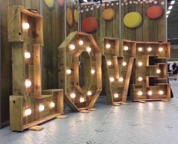 Light Up Rustic LOVE Letters