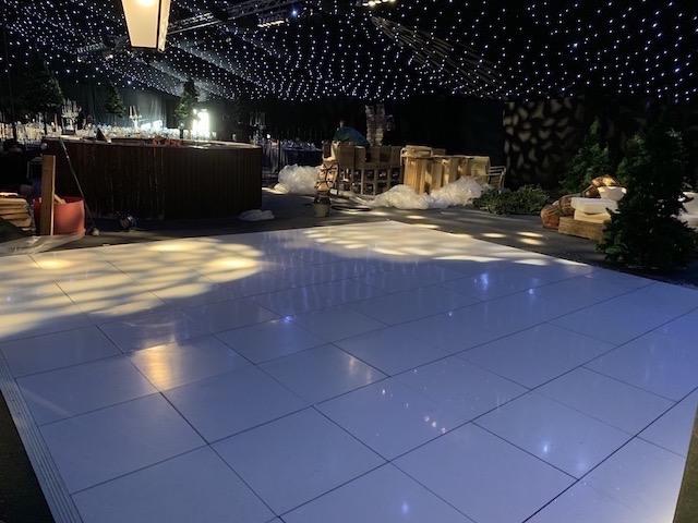 White Gloss Dance Floor Hire