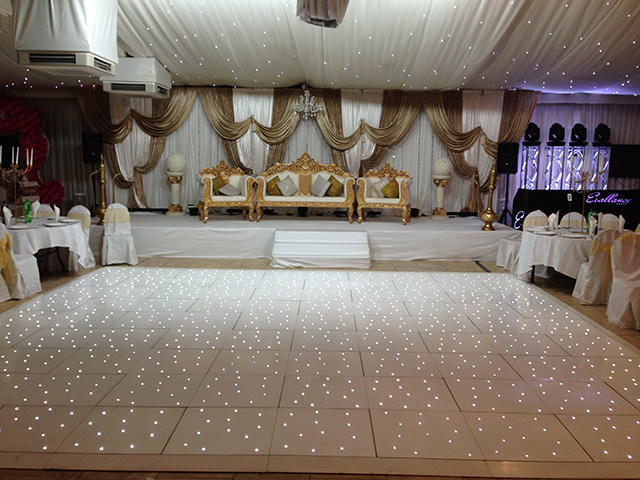 White Starlight Dance Floor Hire White Led Starlit Dance