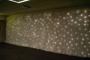 Starlight Backdrop Hire | Twinkle Backdrop Hire | Wedding Backdrop Hire | Fairy Backdrop Hire