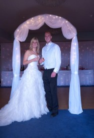 Starlight Wedding Arch Hire | Twinkly Wedding Arch Hire