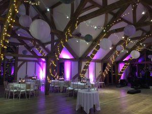Sandburn Hall - Fairy Lights, Hanging Lanterns & Up Lighting