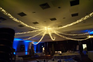 Ceiling Drapes With Fairy Lights