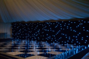 Black and White Dance Floor and Starcloth