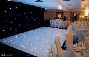 Black Starcloth - Back Of Dance Floor - County Suite - Waterton Park Hotel
