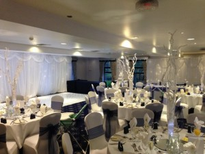 Starlight Backdrop - Back Of Dance Floor & Top Table - County Suite - Waterton Park Hotel