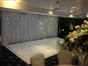 Starlight Backdrop Back Of Dance Floor - County Suite - Waterton Park Hotel