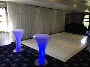 2 x LED Poseur Tables - County Suite - Waterton Park Hotel