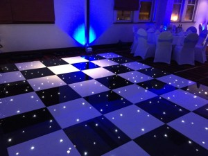 Black and white starlight dance floor