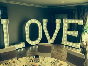 Light Up Illuminated LOVE Letters