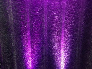 Crystal Backdrop With Purple Uplighting