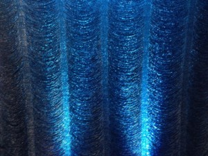 Crystal Backdrop With Teal Uplighting