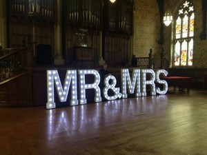 Light Up Mr Mrs Letters Illuminated Mr And Mrs Love