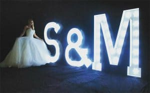 Light Up Initials letters