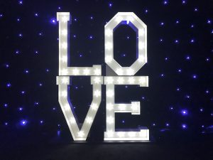 Light Up LOVE Block Letters