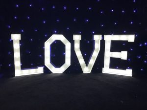3ft Tall Love Letters
