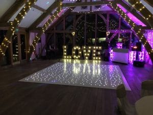 White Starlight Dance Floor - Sandburn Hall
