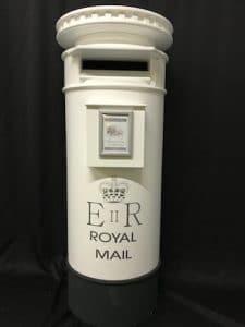 Full Height White 5ft Post Box