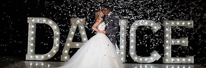 Light Up Dance Letters Wedding Venue Lighting Event