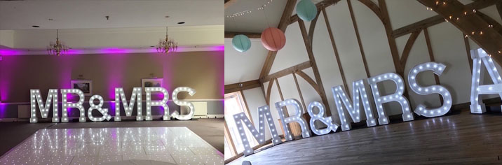 Light Up Mr Mrs Letters Illuminated Mr And Mrs Love Letters Hire