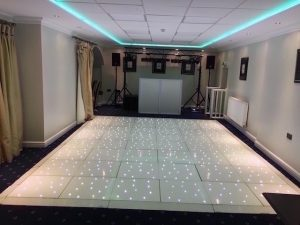 Waterton Park - Boat House - 12 x 16 White Starlight Dance Floor
