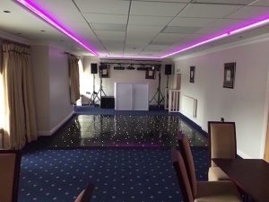 Waterton Park - Boat House - 12 x 12 Black Starlight Dance Floor