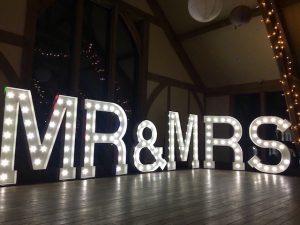 Sandburn Hall Mr & Mrs Letters
