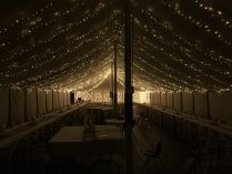 Getting Married at Home - Marquee Lighting