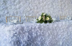 Flower Top Table Skirt