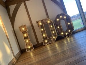 Rustic I DO Letters Hire