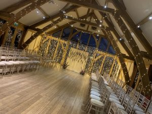 Sandburn Hall Fairy Light Curtans