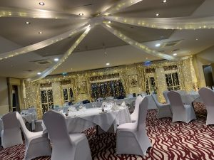Bagden Hall - Ceiling Drapes & Fairy Light Curtains