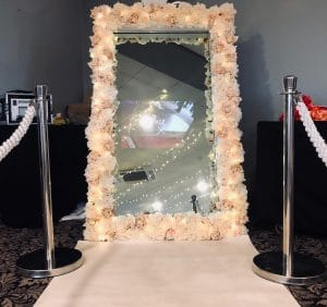 Floral Fairy Lights Mirror Photo Booth