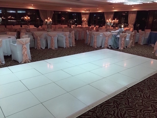 Gloss White Dance Floor Hire