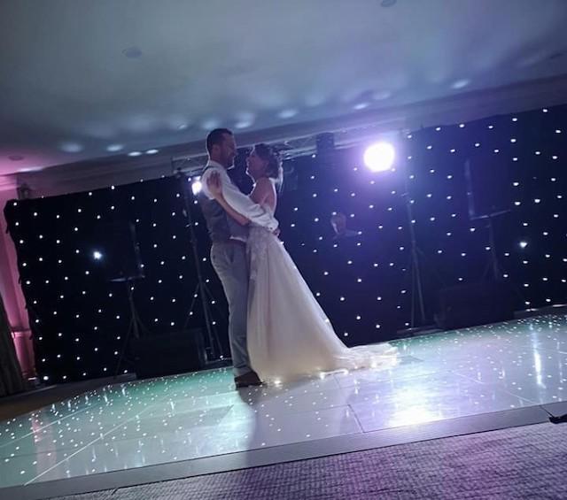 White Starlight Dance Floor Hire