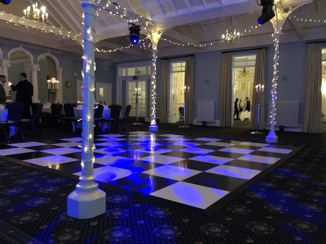 Black & White Chequered Dance Floors