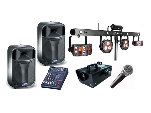 DIY iPod Disco System Hire - Speakers & Lighting Hire