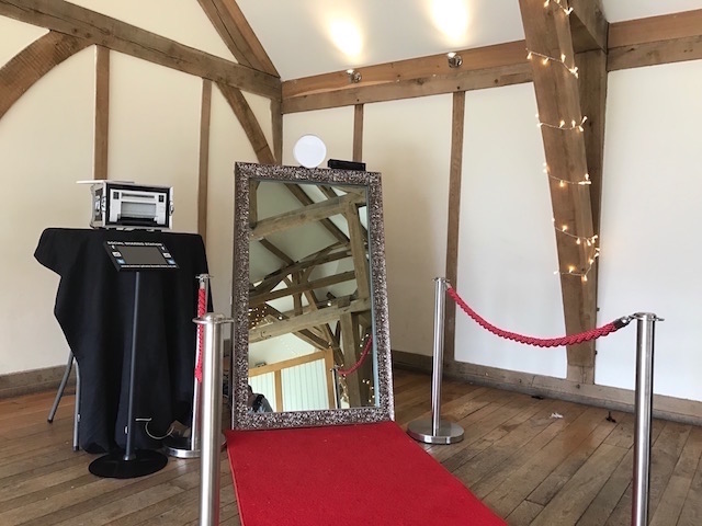 Champagne Gold Mirror Photo Booth