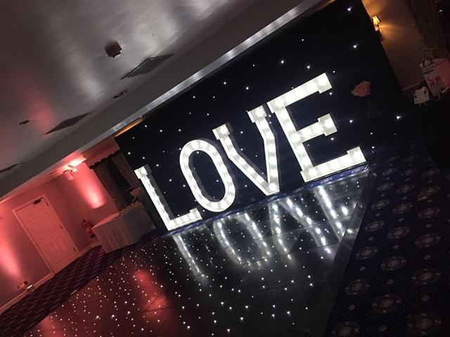 Black LED Starlight / Starlit Twinkle Dance Floor Hire