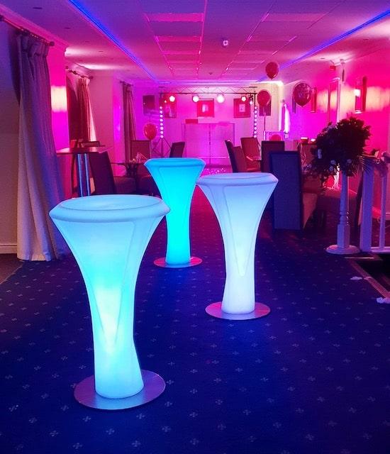 LED Poseur Table Hire