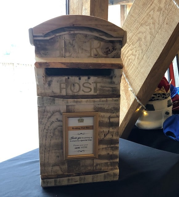 Rustic Post Box Hire